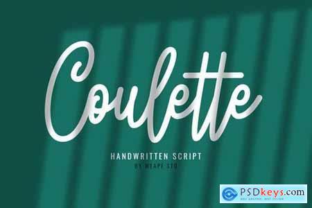 Coulette Handwritten Script