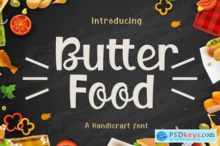 Butter Food Display Font