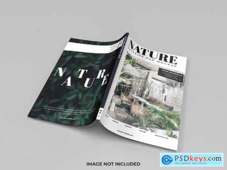 Realistic cover mockup of magazine