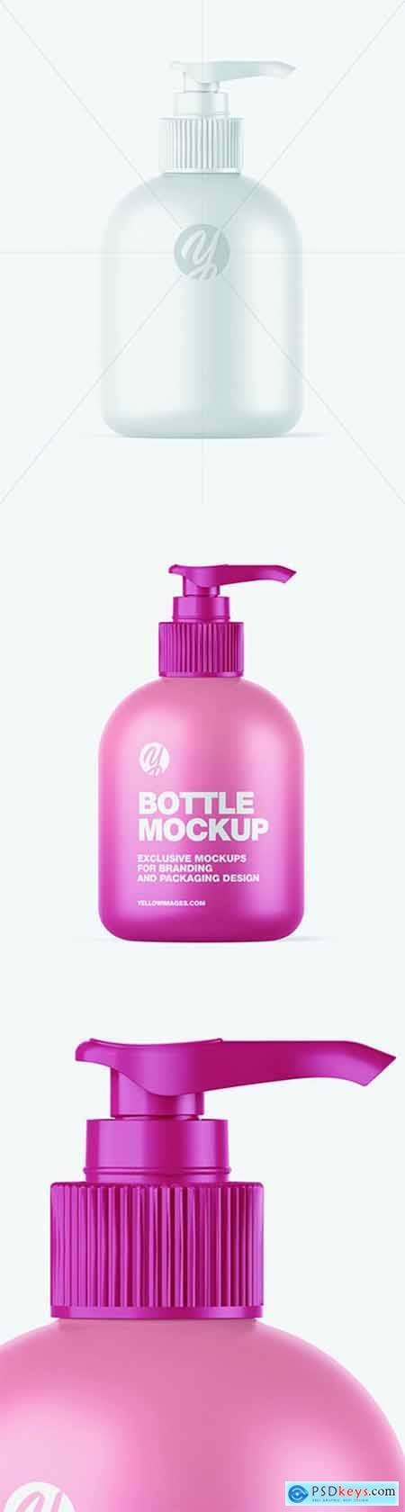 Matte Sanitizer Bottle w- Closed Pump Mockup 68833