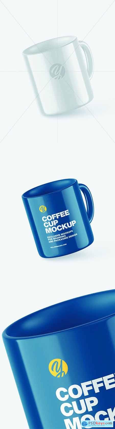 Glossy Coffee Cup Mockup 68869