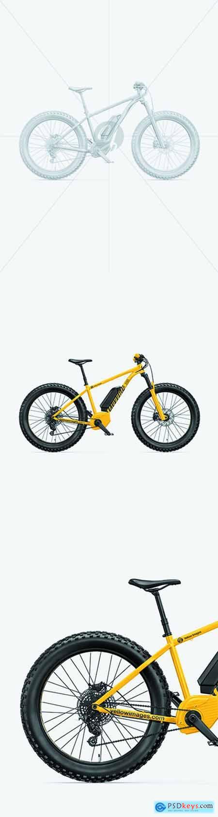 Fat Bike Mockup - Right Side View 68684