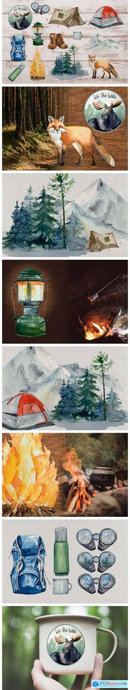 Adventure Clip Arts - Watercolor Set 6581074