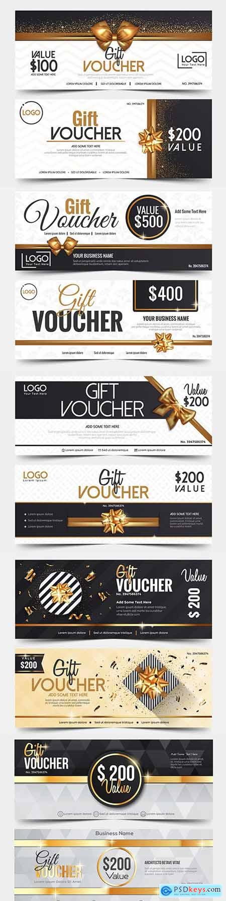 Gift voucher design template for sale illustration 5