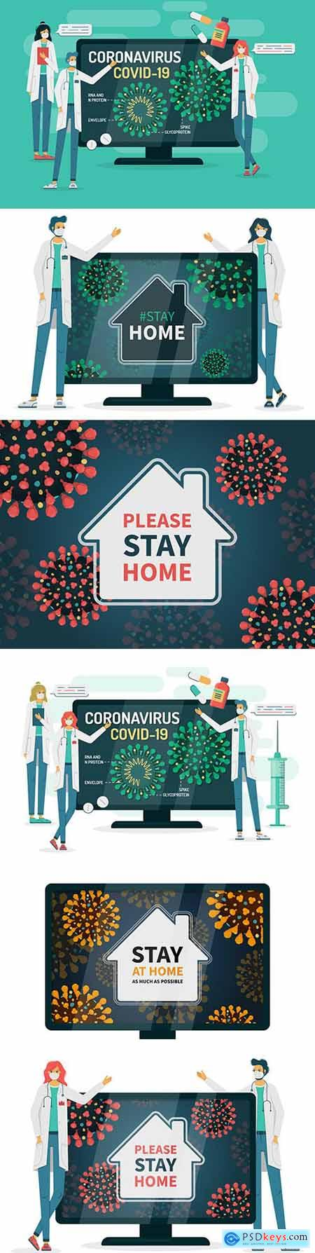 Doctors ask to stay at home due to coronavirus infection