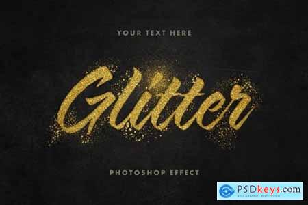 Golden Glitter Text Effect