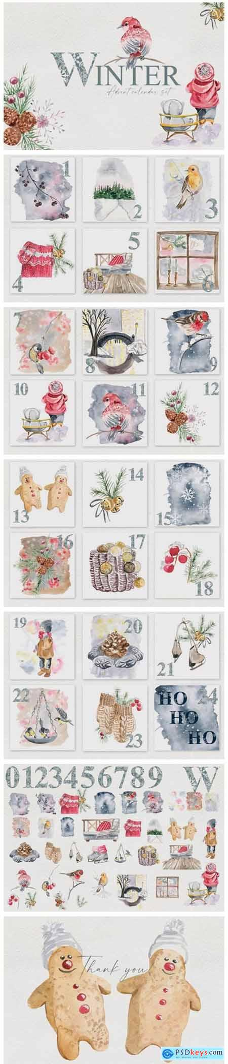Winter Advent Calendar Set 6584868