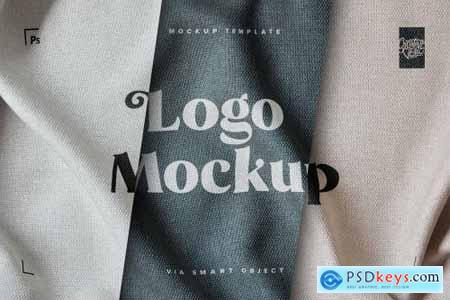 Fabric Print Effect Logo Mockup 5550468