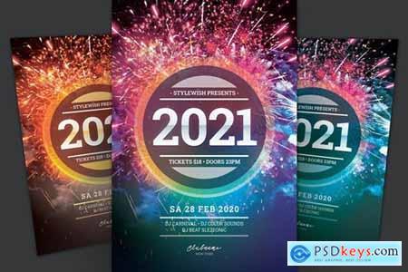 New Year Flyer 5A7YDRN