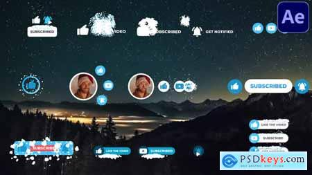 Social Media Snow Subscribers - After Effects 29437282