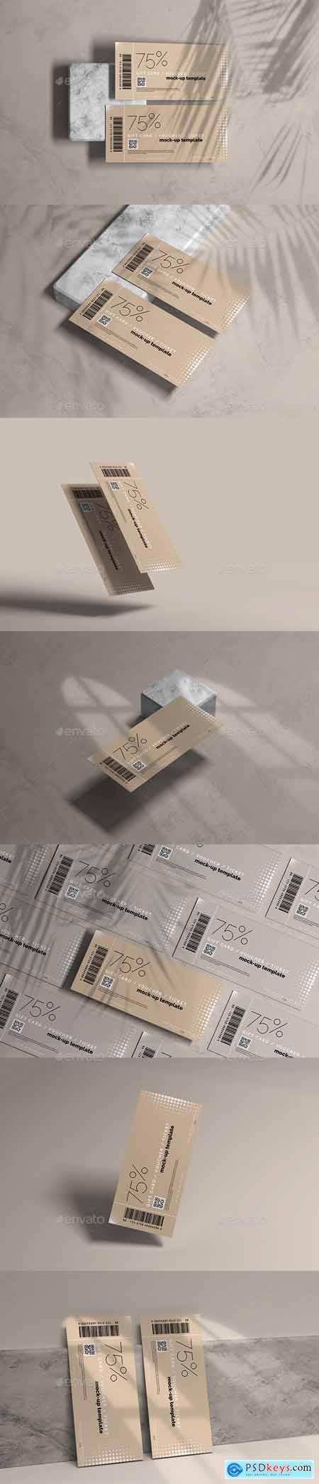 Voucher or Ticket Mockup 29362951