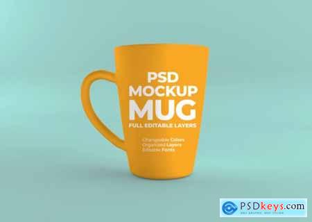Close up on realistic mug mockup