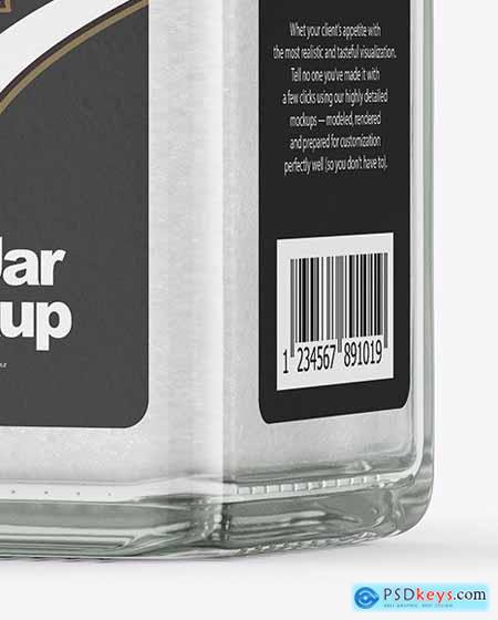 Clear Glass Jar with Salt Mockup 69606