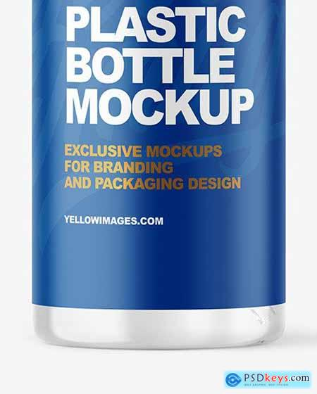 Clear Plastic Bottle with Pump Mockup 69594