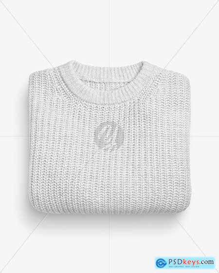 Folded Sweater Mockup 69619