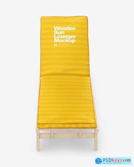 Wooden Sun Lounger Mockup 69598