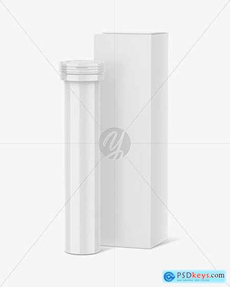 Tablet Tube With Box Mockup 69315