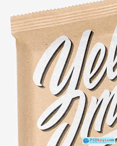Kraft Paper Snack Bar Mockup 69541