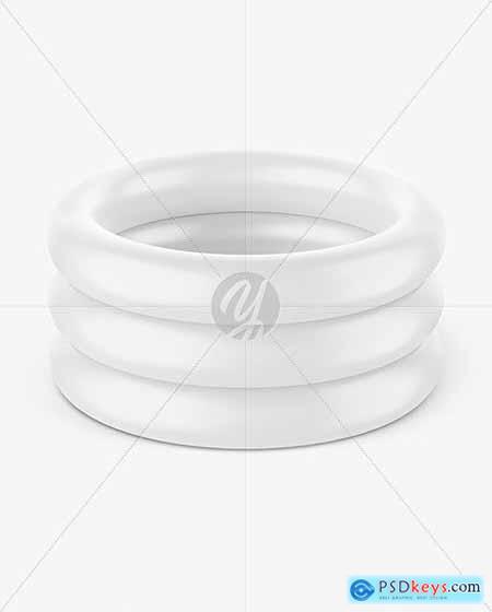 Inflatable 3-ring Baby Pool Mockup 69661