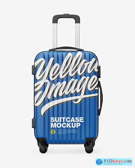 Travel Suitcase Mockup - Front View 69621