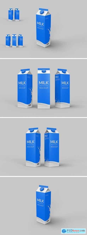 Milk Packaging Mockup Photoshop Template