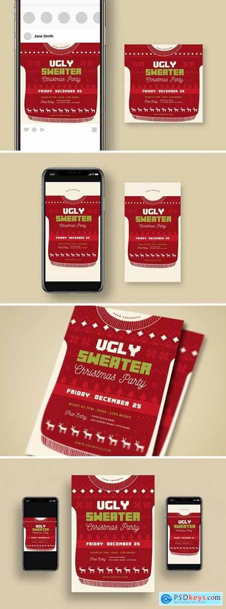 Ugly Sweater Christmas Party + Social Media 64N8ZAL