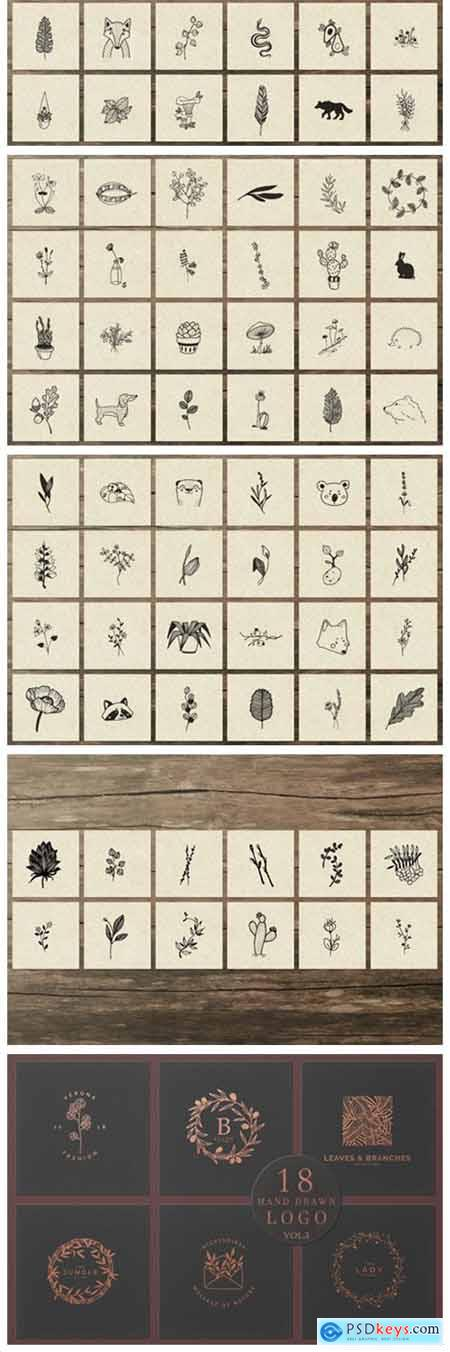 150 Hand Drawn Elements Nature III 6576141
