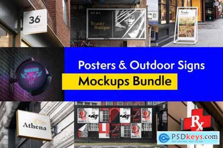 Posters and Signs Mockups Bundle 4262932