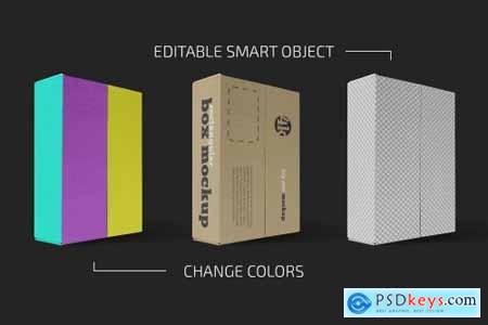 Rectangular Paper Box Mockup Set 5636839