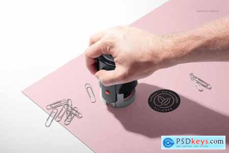 Noissue Self-inking Stamps Mockup 5370405