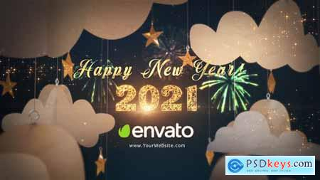 Happy New Year 2021 Paper Greetings - 29284932