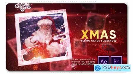 Christmas Flying Cards Slideshow - 29449428