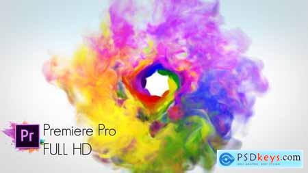 Colorful Smoke Logo Reveal - Premiere Pro - 22032160