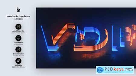 Neon Stroke Logo Reveal 29267753