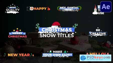 Christmas Snow Titles - After Effects 29479033