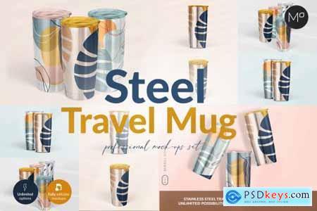 Travel Mug Professional Mock-ups Set 5502633