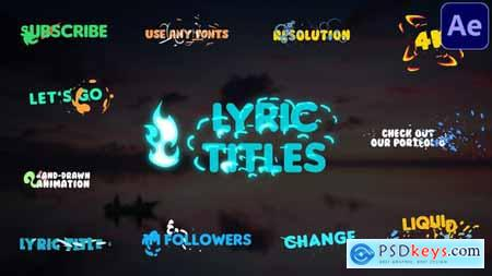 Lyric Titles - After Effects 29492628