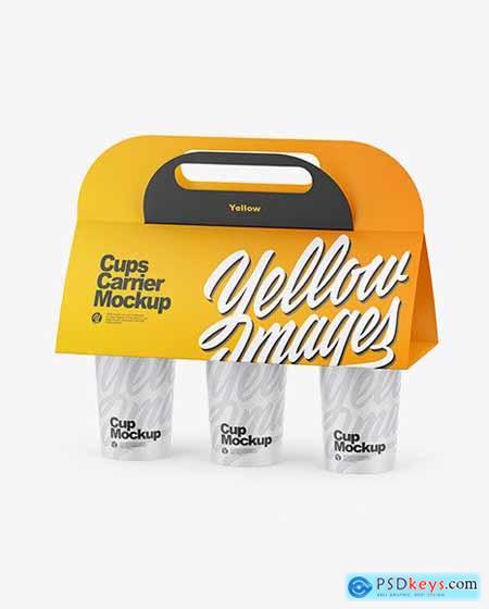 Carrier W- Matte Cups Mockup 69954