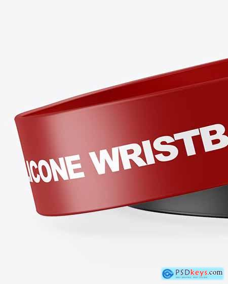 Two Matte Silicone Wristbands Mockup 70069