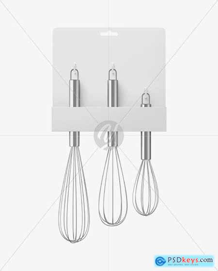 Kitchen Beating Stainless Steel Whisks Mockup 69983