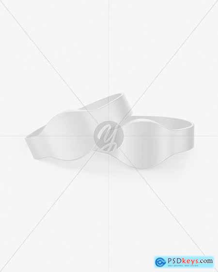 Two Matte Silicone Wristbands Mockup 70077