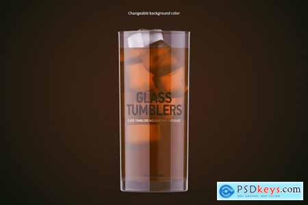 Clear Glass and Box Mockup 5525922
