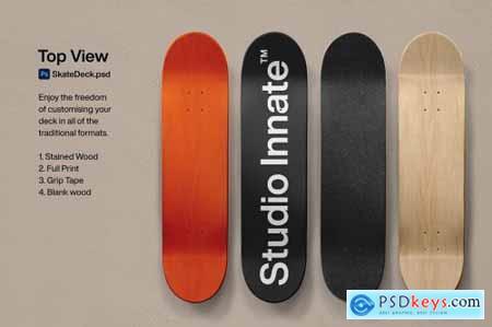 Skate Deck - Mockup 5498774