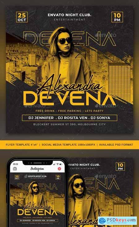 DJ Club Flyer Template 28907002