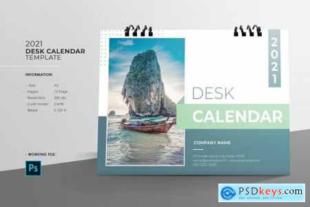 Desk Calendar 2021 V25 5425914