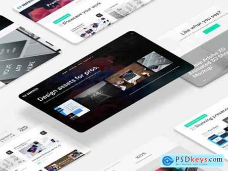 Perspective Website Desktop Mockups 5638520