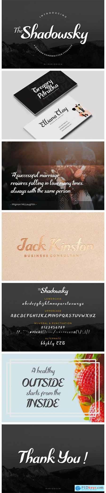Shadowsky Font