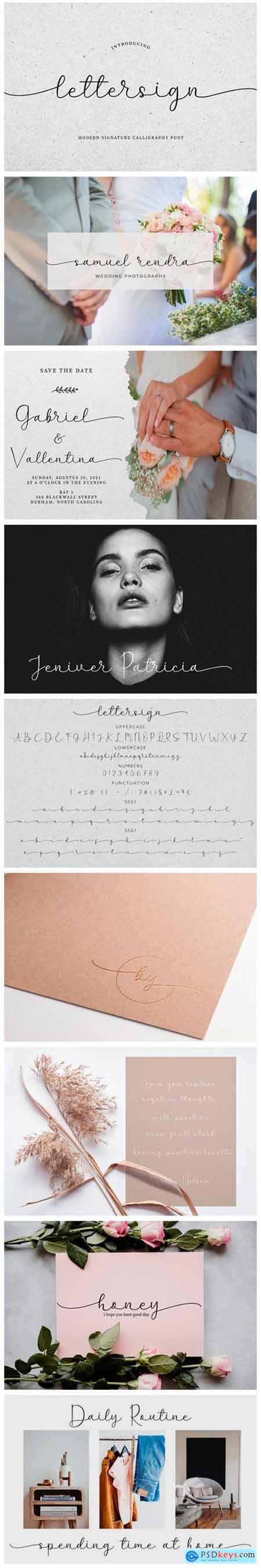 Lettersign Font