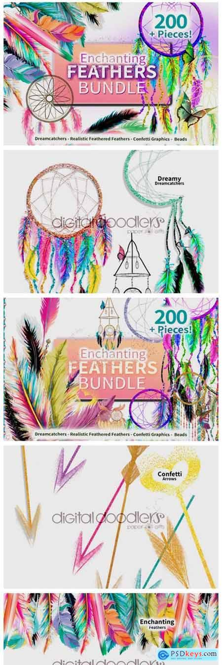 Enchanting Feathers Graphic Bundle 6772245