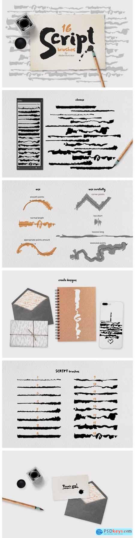 Script Brushes for Illustrator 6797573
